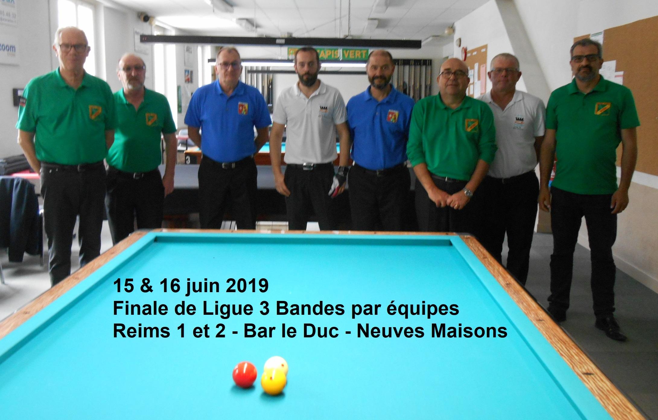 Finale de Ligue 3 bandes par équipes Div 2