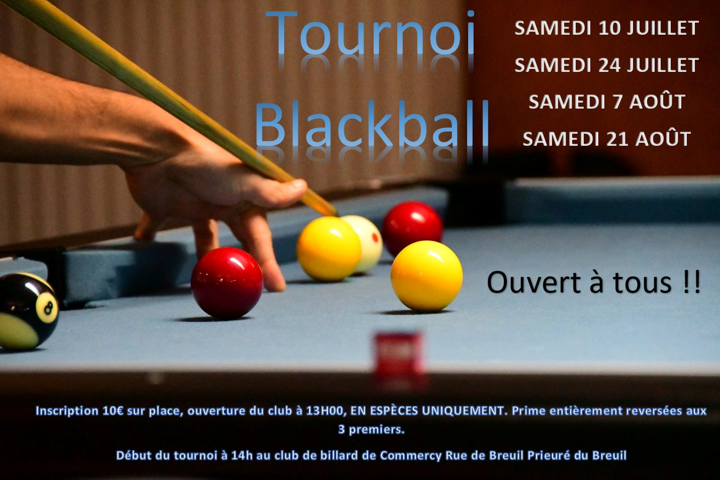 Read more about the article Tournois Black Ball Commercy
