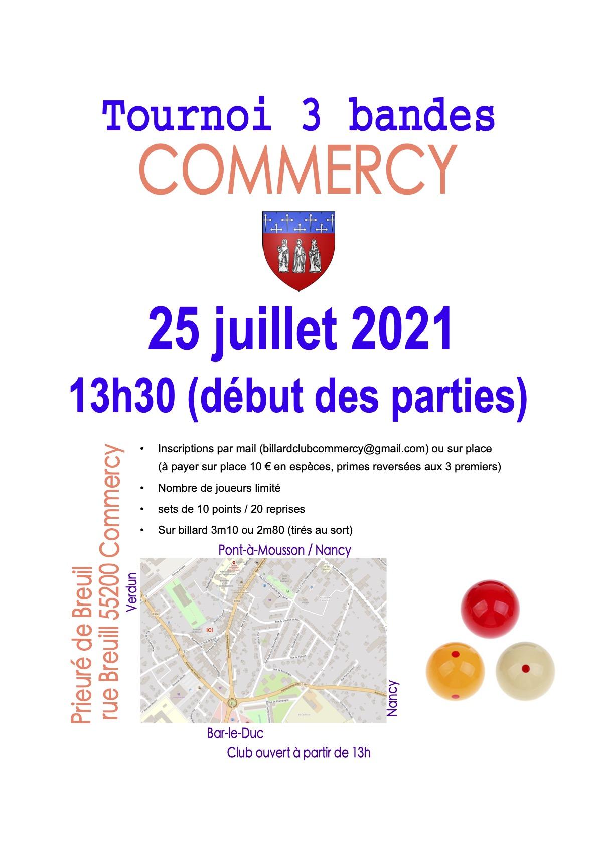 Read more about the article Tournoi 3 Bandes de Commercy